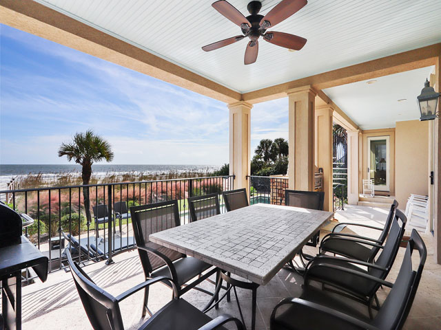Main oceanfront covered porch