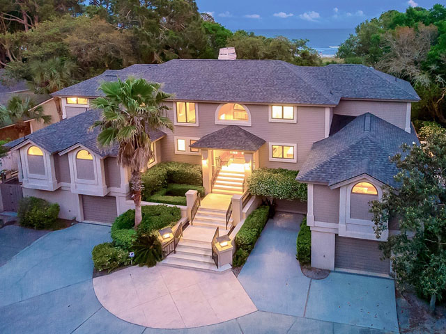 20 Sea Oak-Back of house/ drone/ twilight