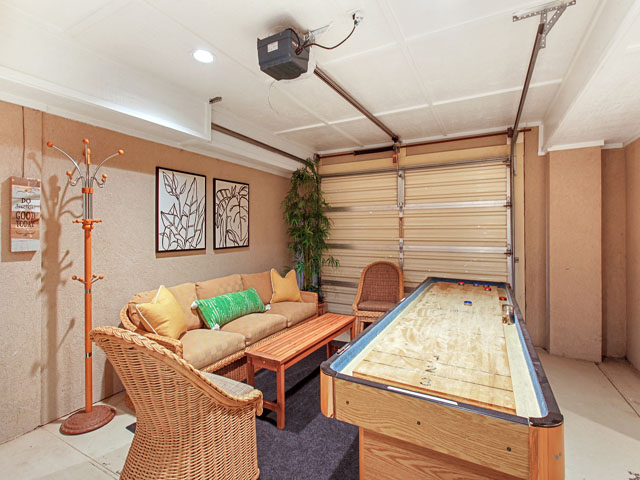 basement shuffleboard